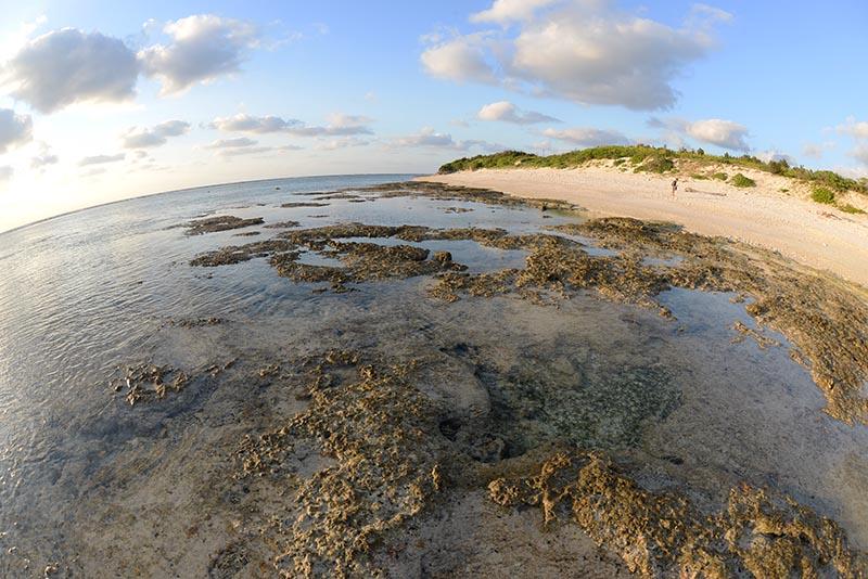 西側のプライベートビーチ