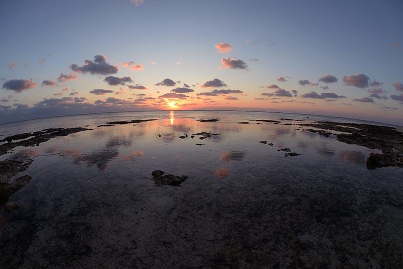 多良間島の夕日