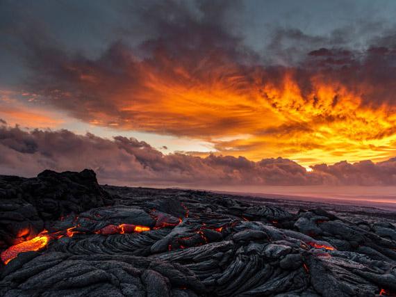 キラウエア火山溶岩台地